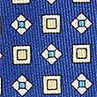 Pure Silk Geometric Print Pocket Square, BRIGHT BLUE MIX, swatch