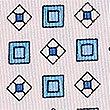 Pure Silk Geometric Print Pocket Square, PALE PINK MIX, swatch