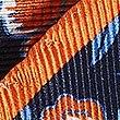 Pure Silk Floral Print Pocket Square, BRIGHT ORANGE, swatch
