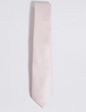 Jacquard Tie, IVORY, catlanding