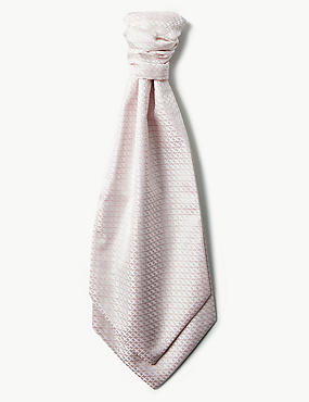 Jacquard Cravat & Pocket Square Set, PINK, catlanding