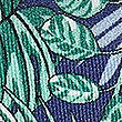Pure Silk Tropical Leaf print Pocket Square, JADE MIX, swatch
