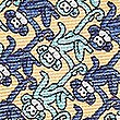 Pure Silk Monkey Print Pocket Square, YELLOW MIX, swatch