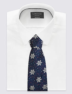 Novelty Sparkly Flakes Printed Tie