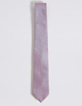 Micro Geometric Tie, PINK, catlanding