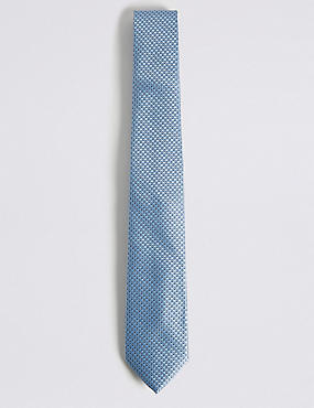 Micro Geometric Tie, LIGHT BLUE, catlanding