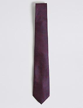 Micro Geometric Tie, NAVY MIX, catlanding