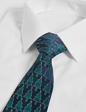 Christmas Tree Motif Novelty Tie