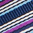 Striped Multi Colour Tie, MAGENTA MIX, swatch