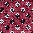 Geometric Print Tie, BURGUNDY MIX, swatch