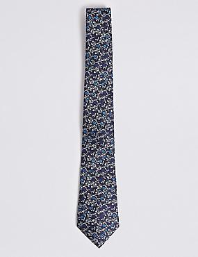 Floral Tie, BLUE MIX, catlanding