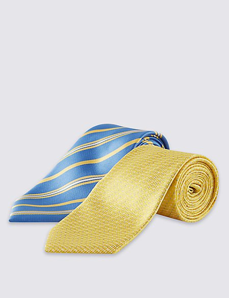 2 Pack Spotted & Striped Ties