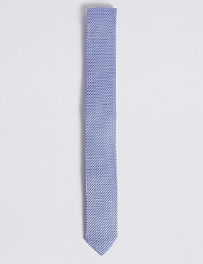 Knitted Tie, PALE BLUE, catlanding