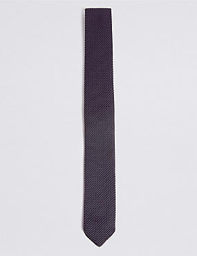 Knitted Tie, SLATE, catlanding