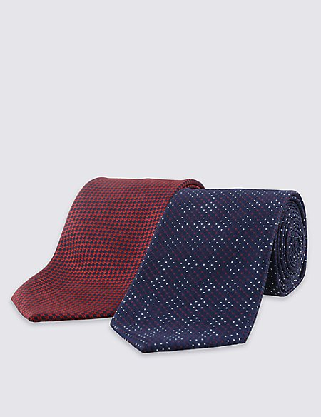 2 Pack Textured Neat Ties