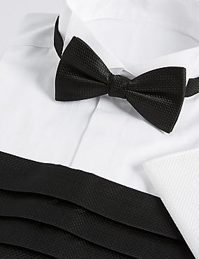 3 Piece Bow Tie, Cummerbunds & Pocket Square Set