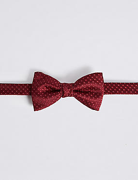 Textured Bow Tie, RED, catlanding