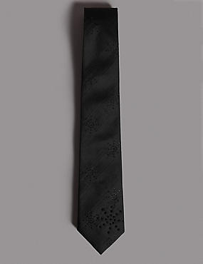 Textured Tie MADE WITH SWAROVSKI® ELEMENTS