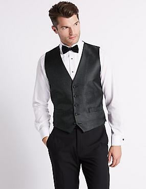 Geometric Waistcoat with Sparkle, BLACK MIX, catlanding