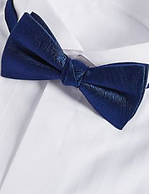 Pure Silk Textured Bow Tie