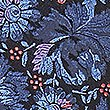 Pure Silk Floral Print Tie, BLUE MIX, swatch