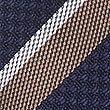 Pure Silk Striped Tie, MOCHA MIX, swatch