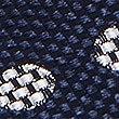 Pure Silk Spot Tie, NAVY MIX, swatch
