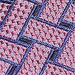 Pure Silk Lattice Tie, PINK MIX, swatch