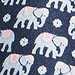 Pure Silk Elephant Print Tie, NAVY MIX, swatch