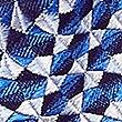 Pure Silk Geometric Tie, BLUE MIX, swatch