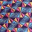 Pure Silk Geometric Tie, ORANGE MIX, swatch