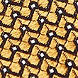 Pure Silk Micro Spot Tie, GOLD MIX, swatch