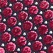 Pure Silk Spotted Tie, MAGENTA, swatch