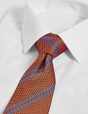 Pure Silk Textured Stripe Tie