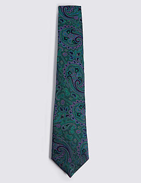 Pure Silk Textured Tie, , catlanding