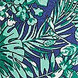 Pure Silk Tropical Leaf Print Tie, JADE MIX, swatch