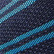 Pure Silk Made in Italy Striped Tie, TURQUOISE MIX, swatch