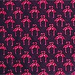 Pure Silk Mini Flamingo Tie, MAGENTA, swatch