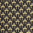 Pure Silk Mini Flamingo Tie, GOLD MIX, swatch