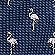 Pure Silk Flamingo Tie, NAVY MIX, swatch