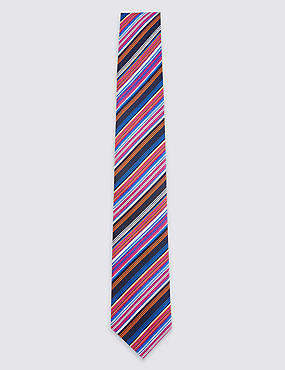 Pure Silk Royal Multi Striped Tie
