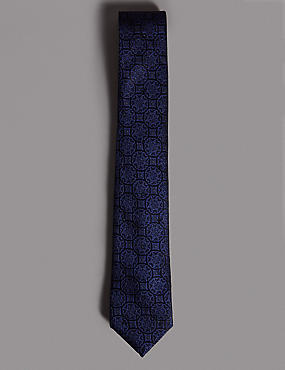 Pure Silk Textured Tie MADE WITH SWAROVSKI® ELEMENTS