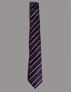 Official England Pure Silk Striped Tie