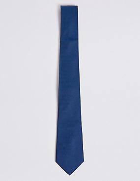 Pure Silk Floral Tie & Pocket Square Set, NAVY, catlanding