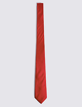 Pure Silk Tie, RED, catlanding