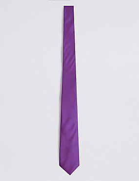 Pure Silk Tie, PURPLE, catlanding