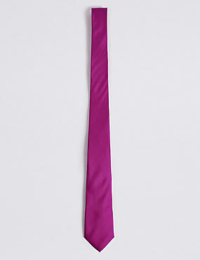 Pure Silk Tie, FUCHSIA, catlanding