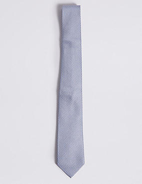 Pure Silk Mix & Match Geometric Hank & Tie Set, PALE BLUE, catlanding