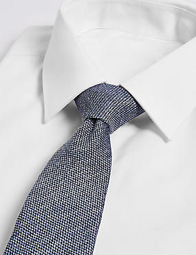Textured Tie with Silk