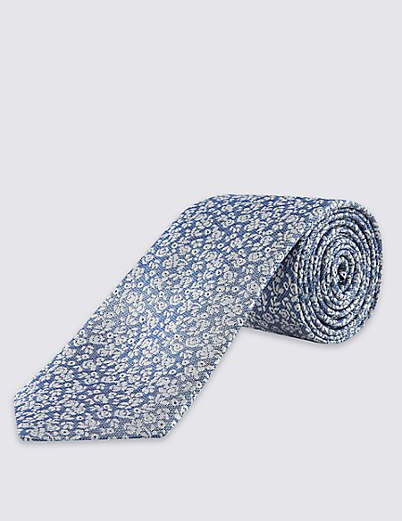 Pure Silk Contemporary Floral Tie